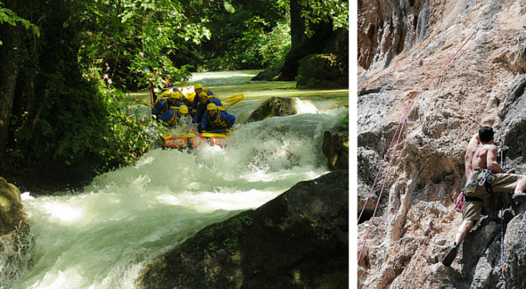 rafting + arrampicata