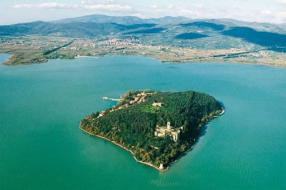 Polvese Island At Trasimeno Lake